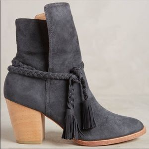 Anthropologie   Huma Blanco   Braided Suede Boots